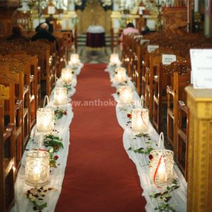 Inside Wedding Decoration romantic with candles and lanterns