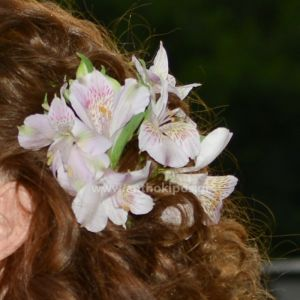 Flowers for bridal hairstyle