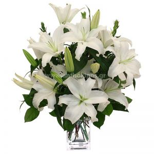 Flower bouquet in white shade for funeral