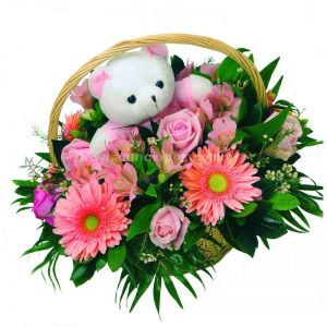 Flower arrangement for girl