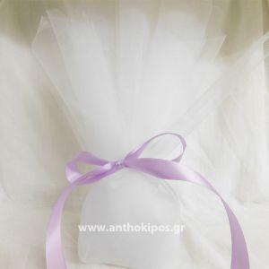 Μπομπονιέρα Γάμου τούλινη, κλασική
