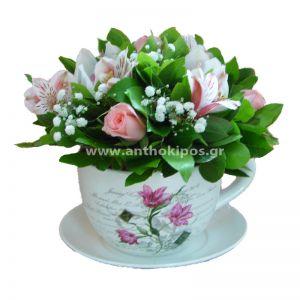 Λουλουδένια κούπα