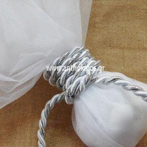 Μπομπονιέρες Γάμου, μπομπονιέρα τούλινη με κορδόνι
