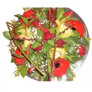 Arrangement with flowers for table