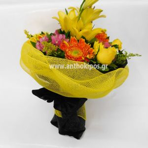 Bouquet with bright flowers