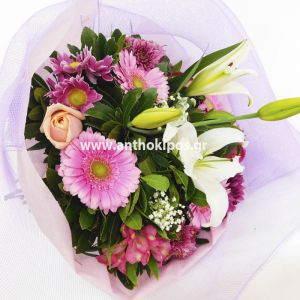 Fresh bouquet with beautiful flowers