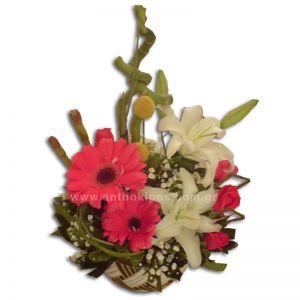 Flowers in ceramic pot