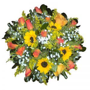 Σύνθεση με λουλούδια για δεξίωση