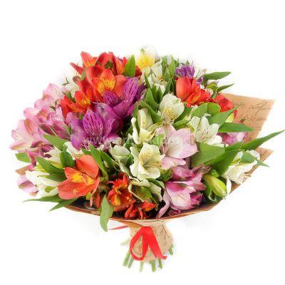 Bouquet of alstromeries